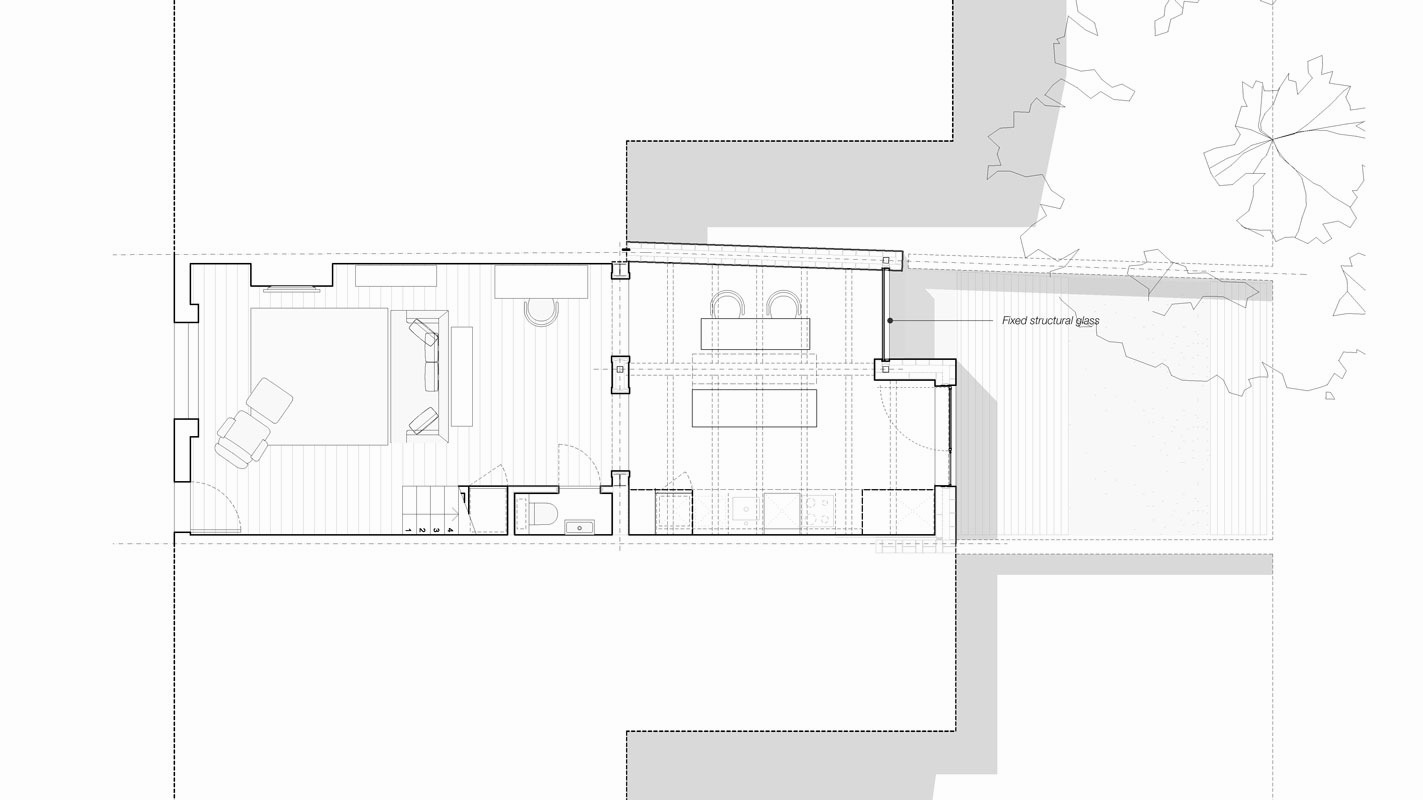 Wellington Row layout plan.